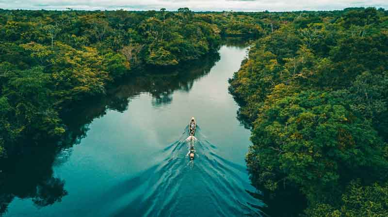Amazon river in Peru