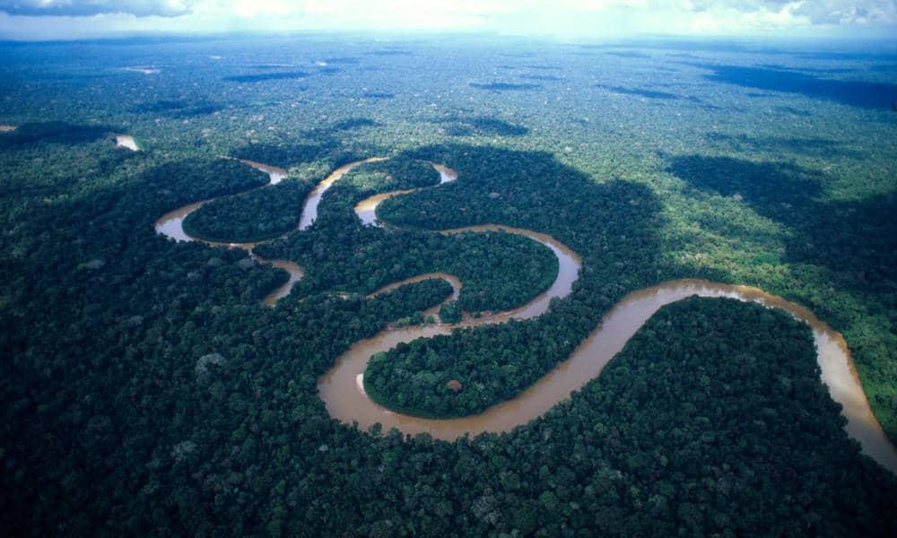 Winding Amazon river