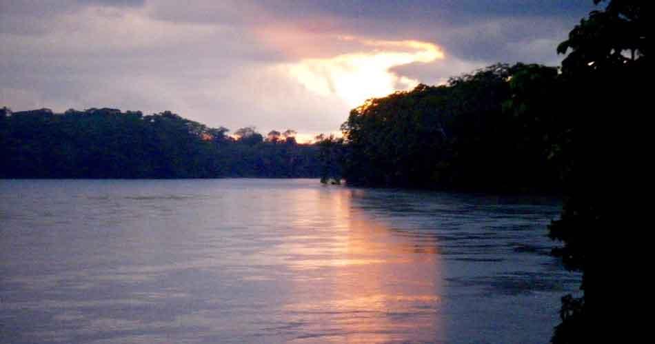 amazon river dusk