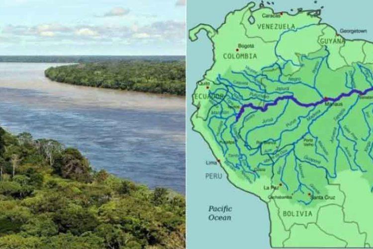 the amazon river path