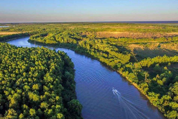 aerial of parana river